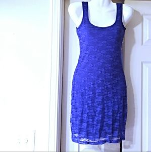 NWOT MUDD LACE DRESS PURPLE SIZE XS